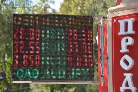 Курс долара на міжбанку сягнув 28,50 гривні