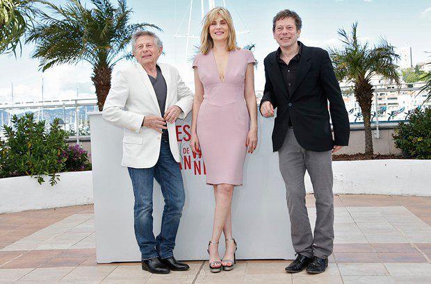 (Слева направо) Роман Полански, Эммануэль Сенье и Матье Амальрик