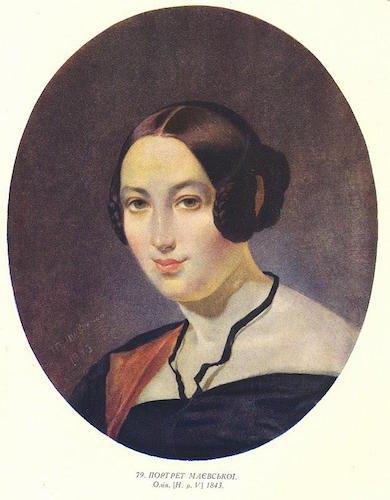 Портрет Маєвської. Олія. 1843