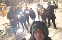 В поддержку Навального в России прошли акции с фонариками