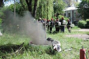 Прокуратура розцінює як диверсію пожежа біля телецентру в Києві