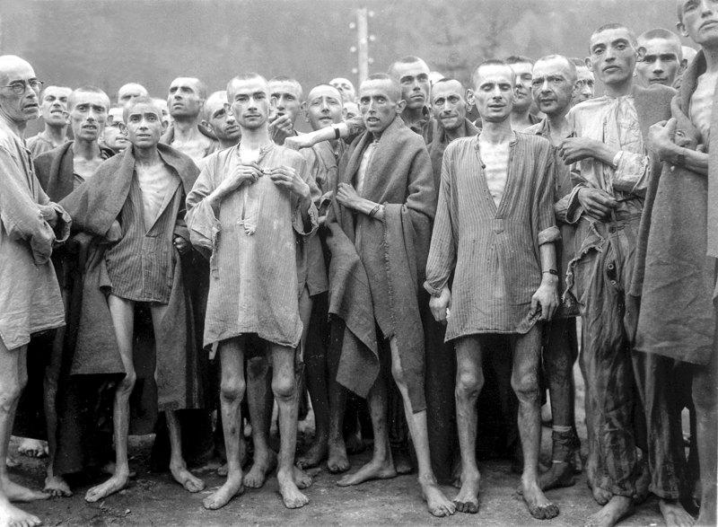 Уцелевшие узники Эбензее, 7 мая 1945 г.