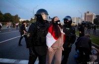 У Білорусі в неділю на акціях протесту затримали майже 600 людей