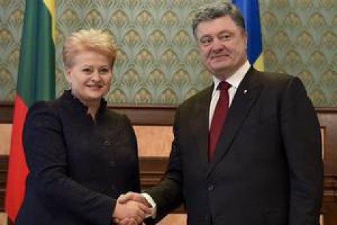 Президент Литви відвідає Україну 12 грудня