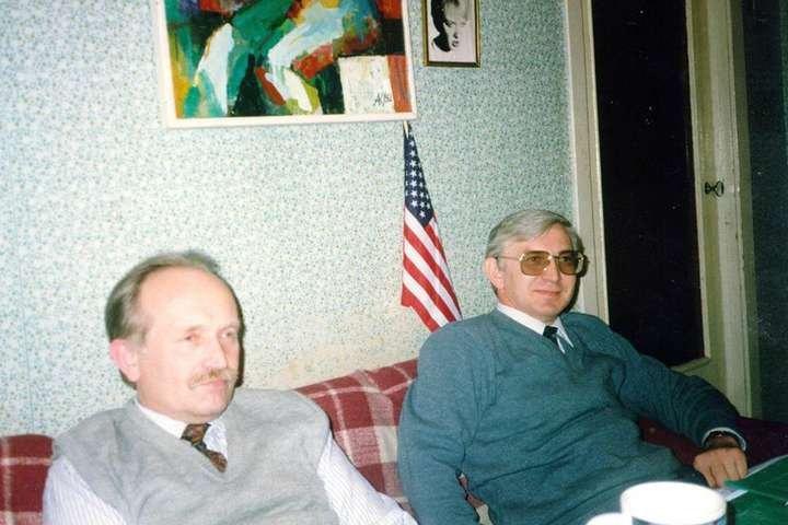 Михайло Бойчишин (справа) і В'ячеслав Чорновіл (зліва)