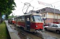 Три трамвайных маршрута в Киеве временно прекращают движение для ремонта колеи