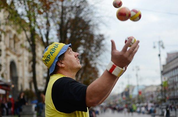 Валерия до сих пор волнует, как выглядело его представление, хотя он жонглировал на Крещатике не меньше 3000 раз