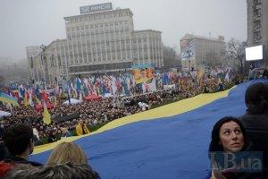 Участники Евромайдана возвращаются на Европейскую площадь
