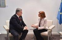 Порошенко призвал Кириакидес к соблюдению принципов ПАСЕ