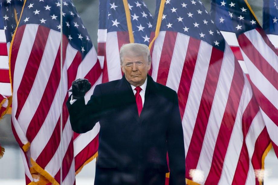 Президент США Дональд Трамп во время митинга возле Белого дома в Вашингтоне, 6 января 2021.