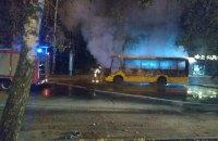 Вночі в Чернівцях згоріла маршрутка