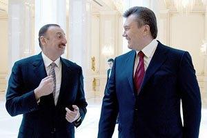 Янукович встретился с президентом Азербайджана