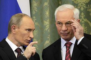 Путин - Азарову: вы у нас кровь-то и пьете