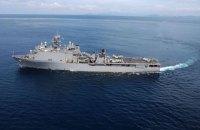 У Чорне море йде американський десантний корабель