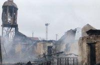 У Люботині згоріла церква УПЦ МП