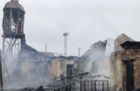 В Люботине сгорела церковь УПЦ МП