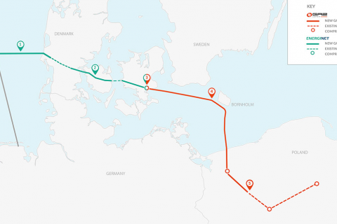 Дания одобрила строительство морского участка газопровода Baltic Pipe