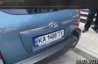 Автомобіль, що стежив за Кононенком, засвітився на акції біля будинку Порошенка, - активіст
