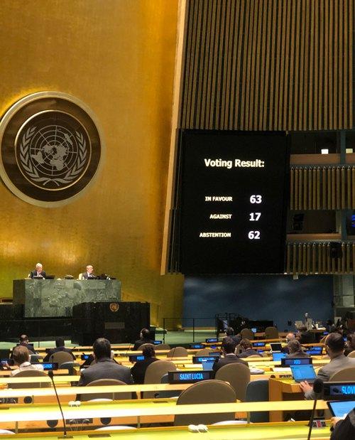 Голосування в ООН стосовно резолюції про мілітаризацію Криму
