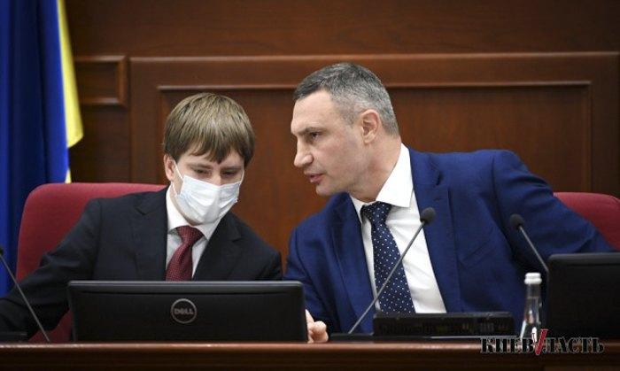 Мер Києва Володимир Кличко та секретар Київради Володимир Бондаренко (ліворуч)