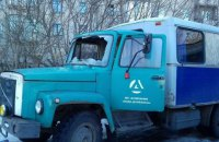 """Автомобіль компанії """"Вода Донбасу"""" з персоналом потрапив під обстріл"""