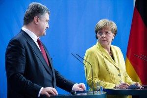 Порошенко просит Меркель о дополнительной финансовой поддержке Украины