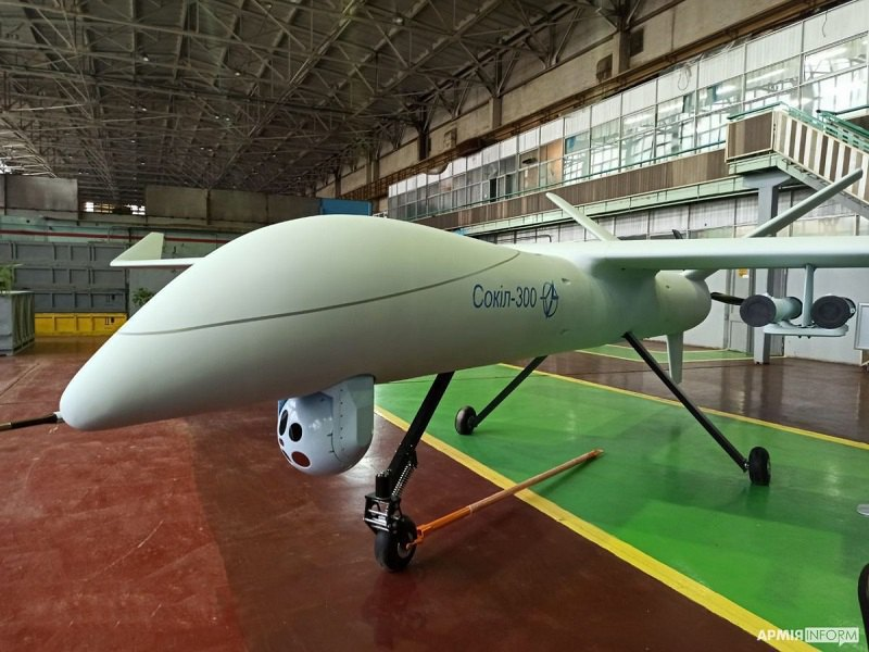 Конструкторське бюро 'Луч' представило розвідувально-ударний безпілотний літальний апарат 'Сокіл-300' 6 листопада