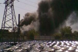 Во время пожара на автозаводе в Запорожье пострадало три человека