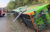 16 человек пострадали при аварии пассажирского автобуса в Германии