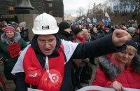 Профсоюзы вышли к Кабмину на протест против нового закона о труде
