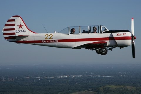 У Росії зазнав аварії навчальний літак Як-52