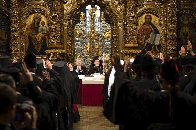 Всеукраїнський православний об'єднавчий собор, Київ, Україна, 15 грудня 2018 року.