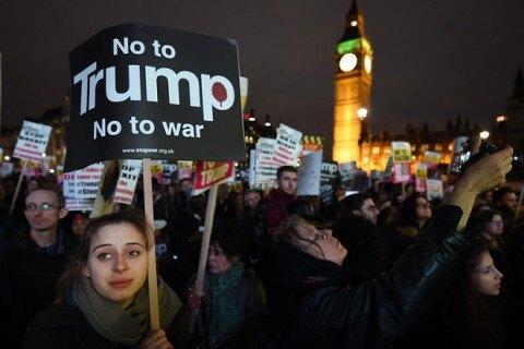 В Лондоне 7000 человек протестовали против визита Трампа