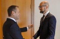 """Яценюк назвав """"історичною"""" промову Туска у Верховній Раді"""