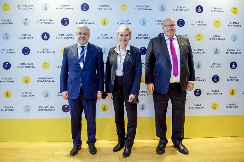 Тристороння зустріч міністрів енергетики України, Німеччини та США Германа Галущенка, Петера Альтмаєра та Дженніфер Гренгольм у рамках Кримської платформи, 23 серпня 2021р.