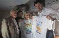 """Літак з Афанасьєвим і Солошенком приземлився у """"Борисполі"""""""