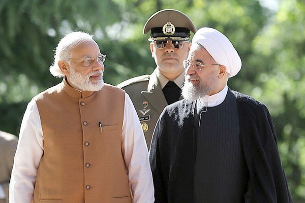 Президент Ирана Хасан Роухани и премьер-министра Индии Нарендра Моди во время встречи в Тегеране, 23 мая, 2016 года