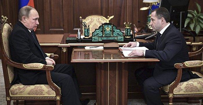 Бабич во время встречи с Путиным