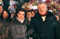 Два украинских телеканала второй год подряд включают новогоднее поздравление Порошенко вместо Зеленского