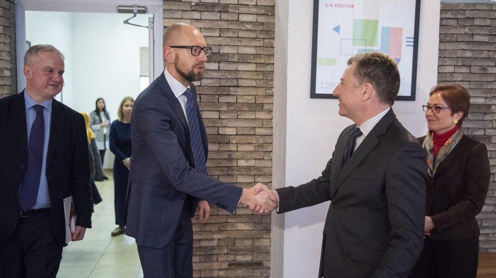 Арсений Яценюк и Курт Волкер