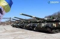 Зеленський привітав українських танкістів з професiйним святом