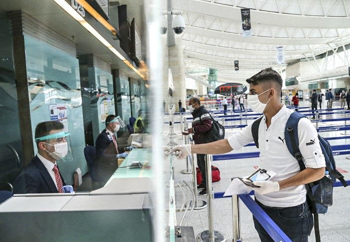В міжнародному аеропорту Есенбога, Анкара, Туреччина,