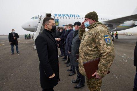 Зеленский начал рабочую поездку в Запорожскую область