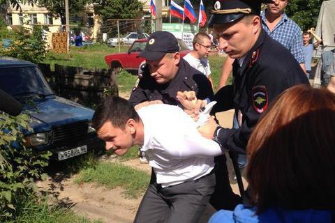 У Росії жорстко затримали опозиціонера Яшина