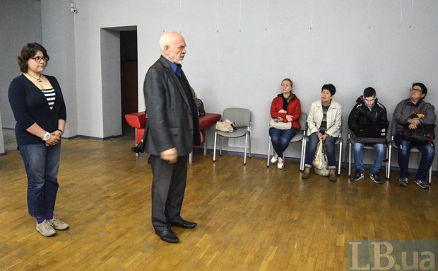 Казарин на встрече с первыми абитуриентами в Киеве, 2016г