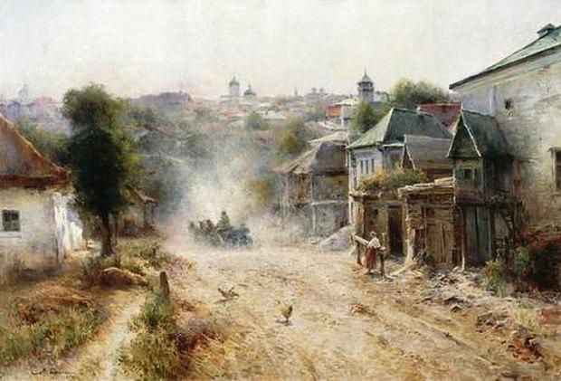 Вулиця в Умані.1895. Полотно, олія. 89,5х132,5