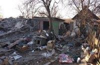 Военные показали последствия обстрела боевиками жилого сектора Пивденного