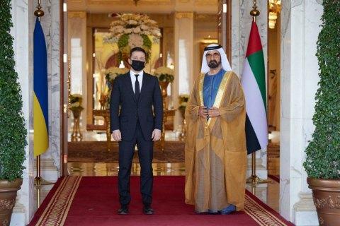 Зеленский встретился с премьером Объединенных Арабских Эмиратов