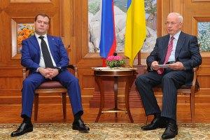 Азаров обсудил с Медведевым результаты президентских переговоров