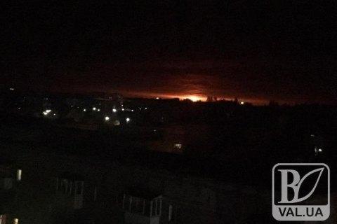 В Ичне взорвались склады с боеприпасами
